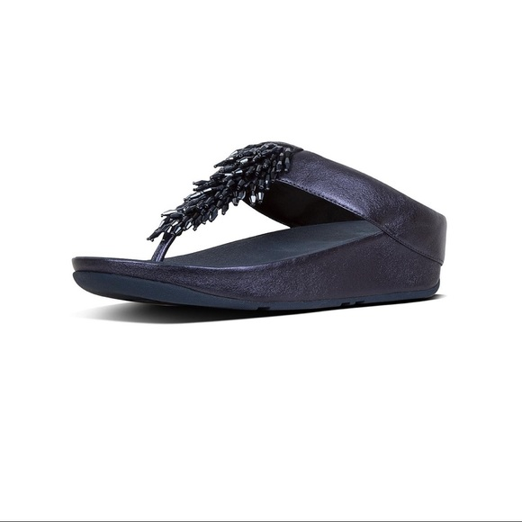 bb28909548c0 FitFlop Rumba Leather Toe-Thongs